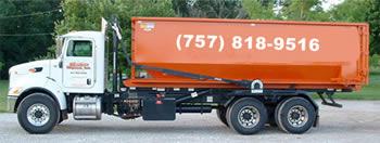 truck for dumpster rentals in Virginia Beach, Virginia